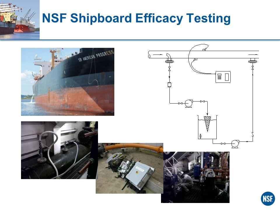 NSF Shipboard Efficacy Testing