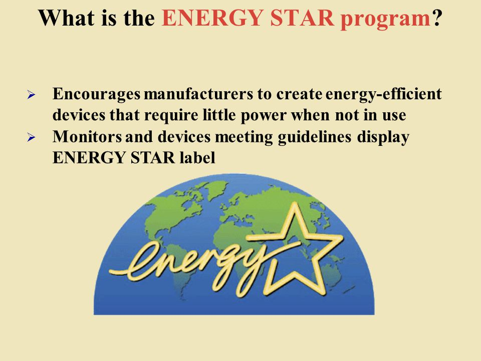 What is the ENERGY STAR program.