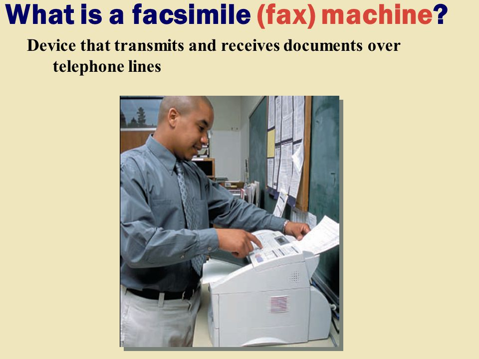 What is a facsimile (fax) machine.