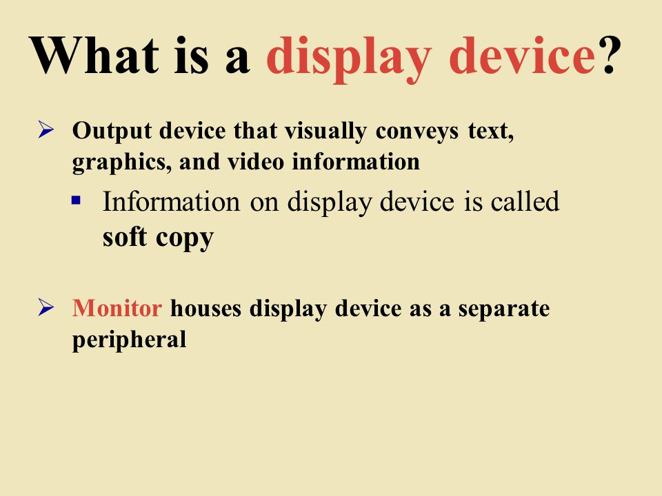 What is a display device.