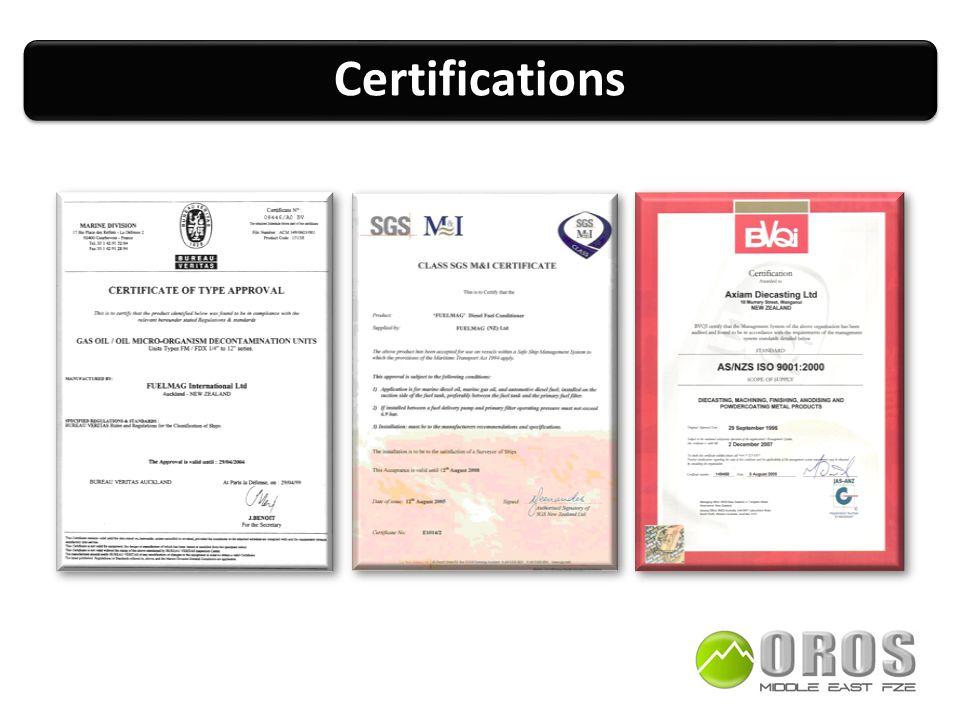 CertificationsCertifications