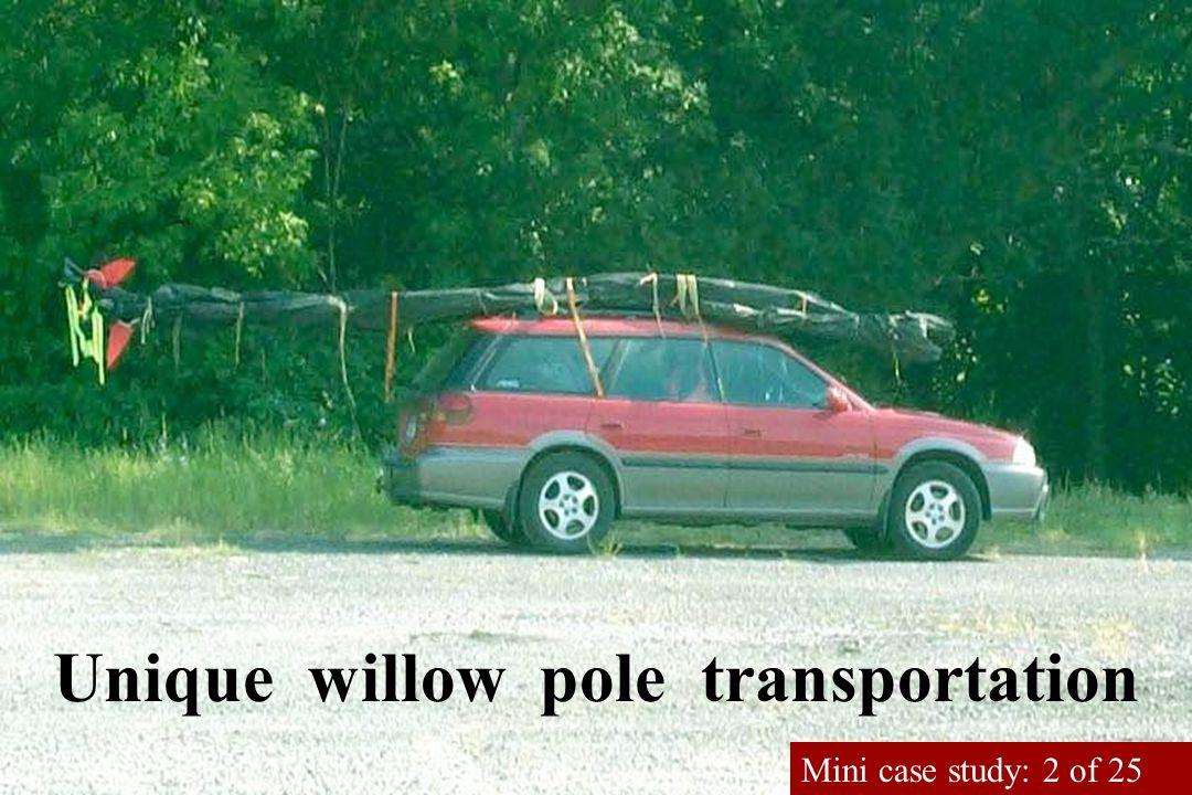 Unique willow pole transportation Mini case study: 2 of 25