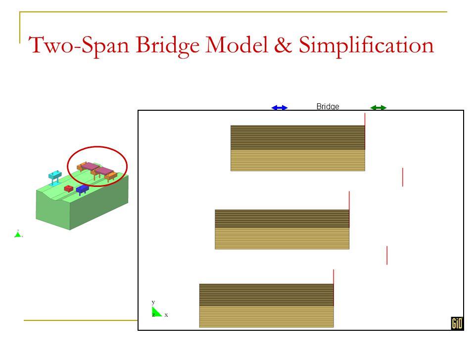 Two-Span Bridge Model & Simplification equal DOF Bridge deck