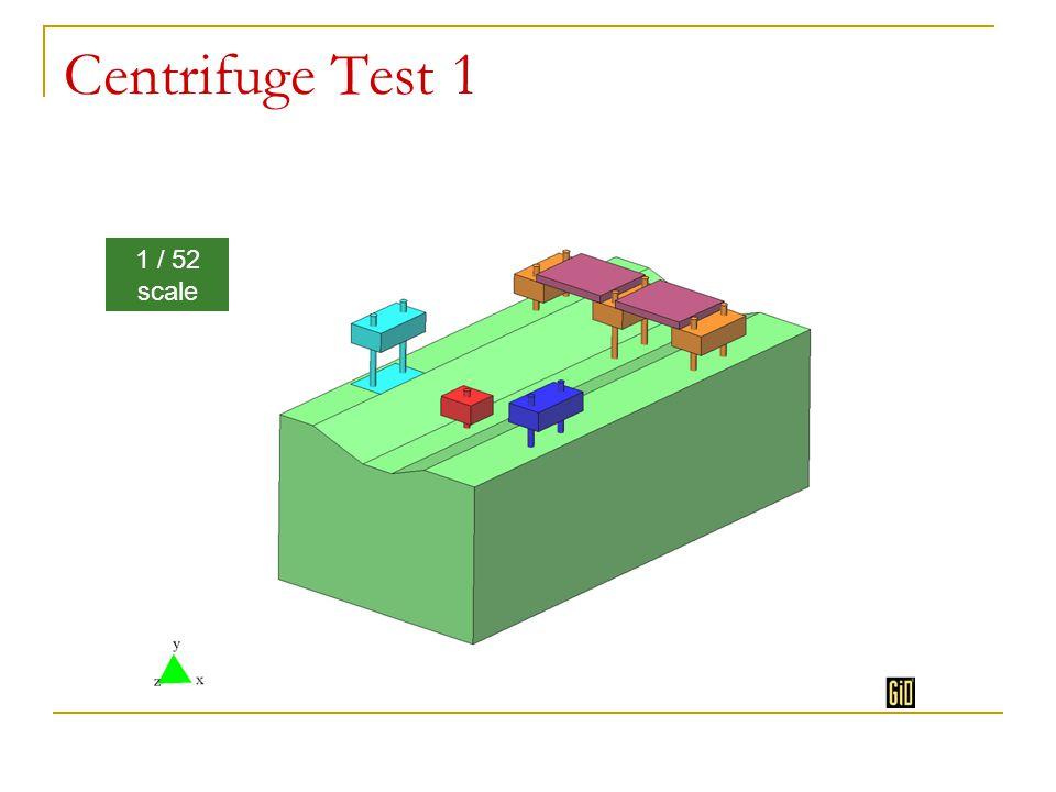 Centrifuge Test 1 1 / 52 scale