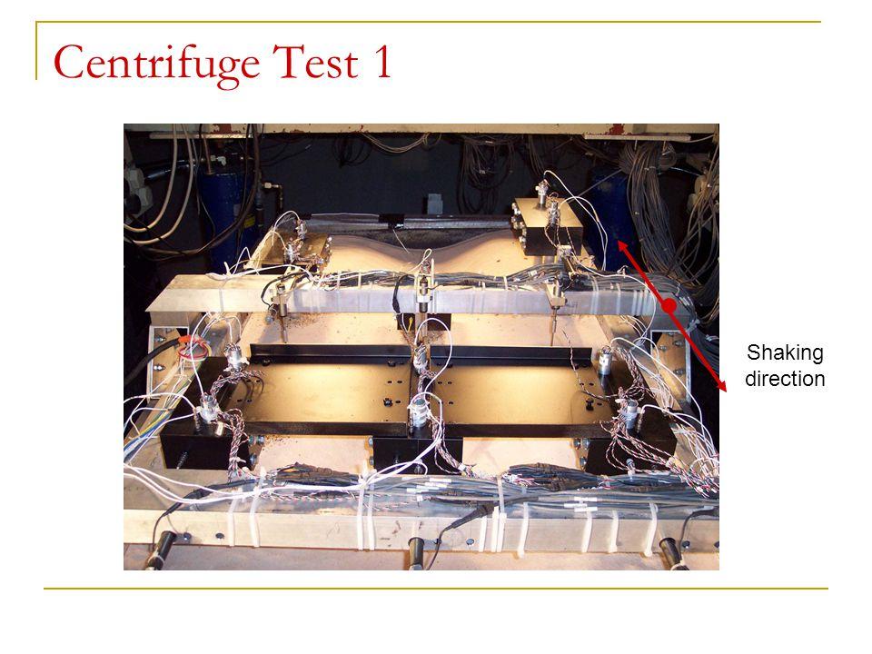 Centrifuge Test 1 Shaking direction