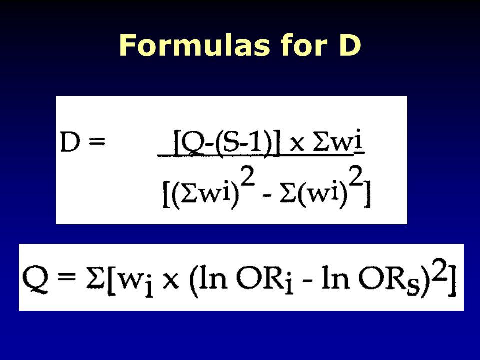 Formulas for D
