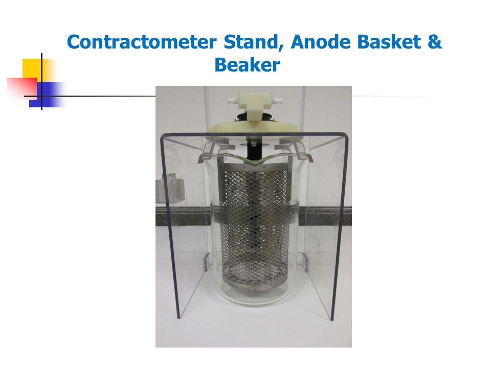 Contractometer Stand, Anode Basket & Beaker