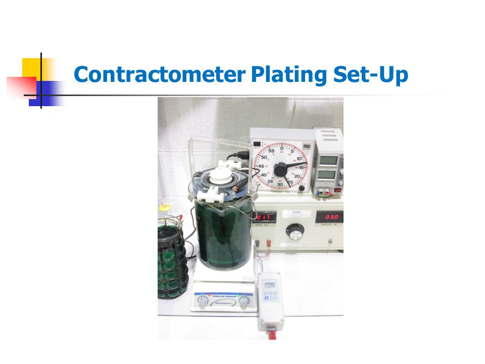 Contractometer Plating Set-Up