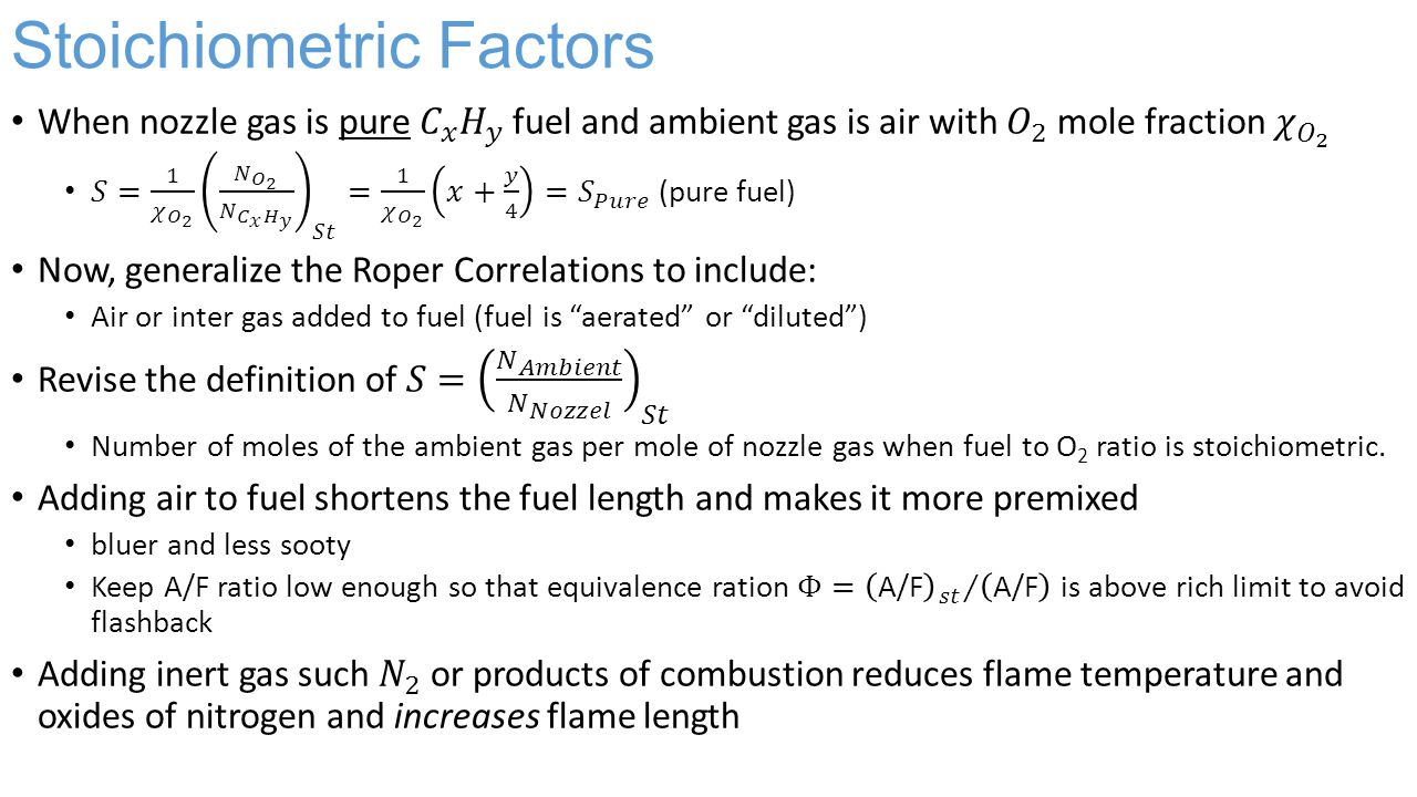 Stoichiometric Factors