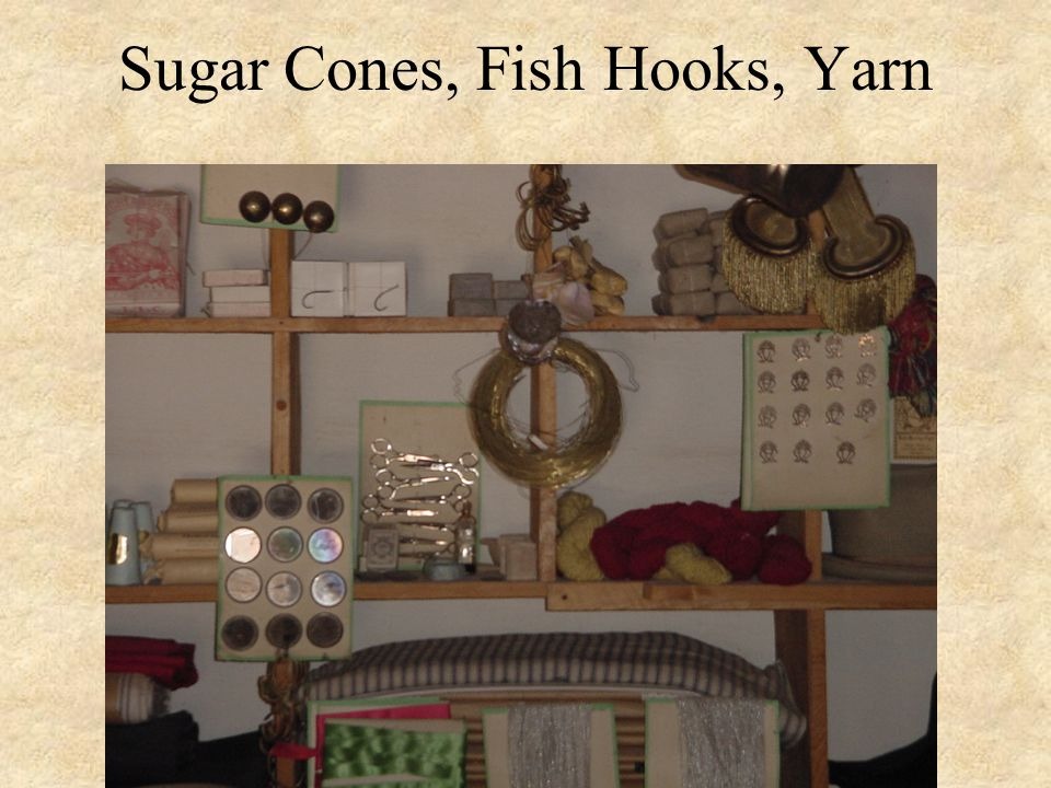 Sugar Cones, Fish Hooks, Yarn