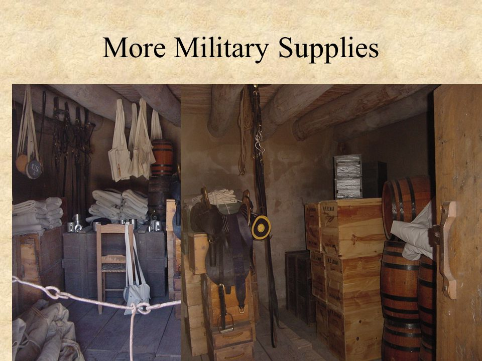 More Military Supplies
