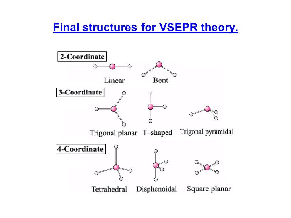 More final structures for VSEPR.