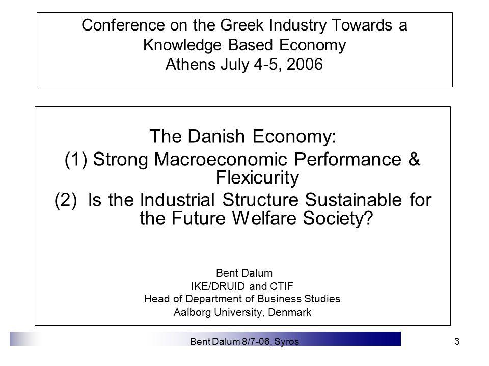 Bent Dalum 8/7-06, Syros4 Unemployment in Denmark 1948-2004 Beskrivende dansk økonomi © HandelsVidenskab
