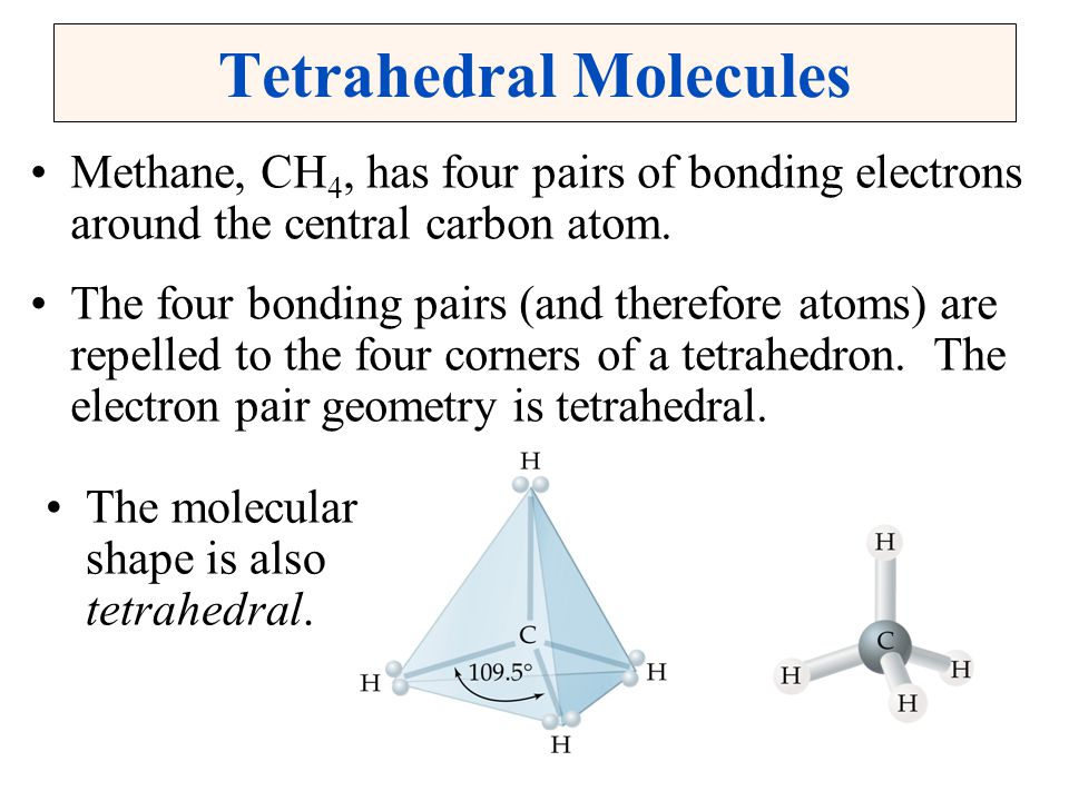 Trigonal Pyramidal Molecules In ammonia, NH 3, the central nitrogen atom is surrounded by three bonding pairs and one nonbonding pair.