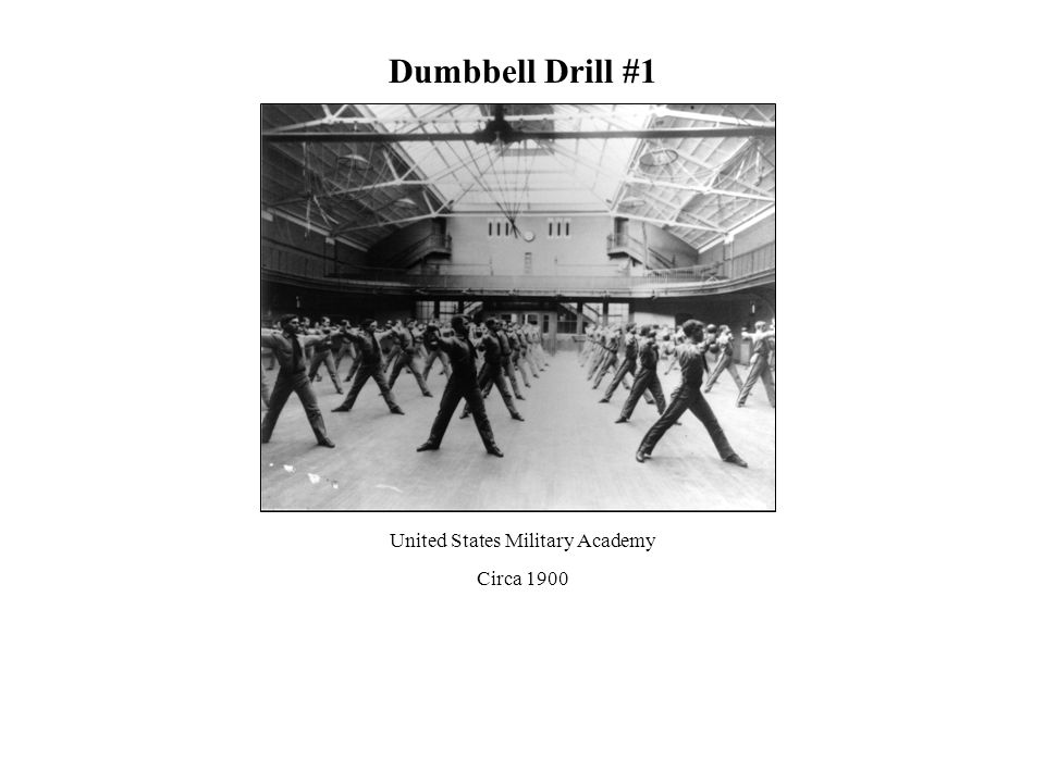 Dumbbell Drill #1 United States Military Academy Circa 1900