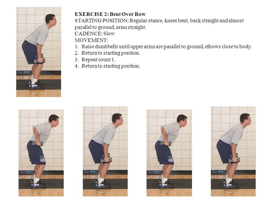 EXERCISE 3: Rear Lunge STARTING POSITION: Regular stance, dumbbells on shoulders in carry position.