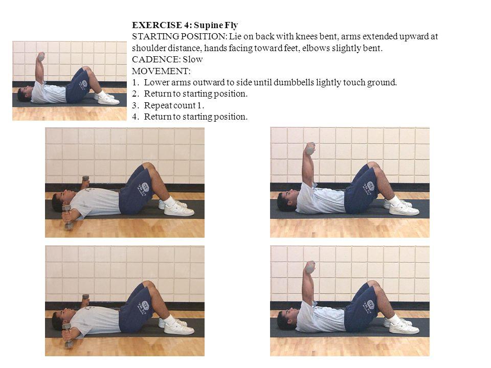 EXERCISE 5: Squat STARTING POSITION: Regular Stance, dumbbells on shoulders in carry position.