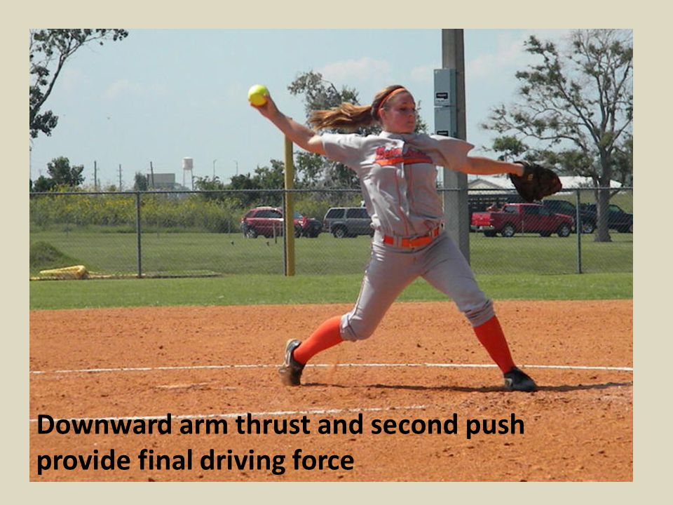 Downward arm thrust and second push provide final driving force