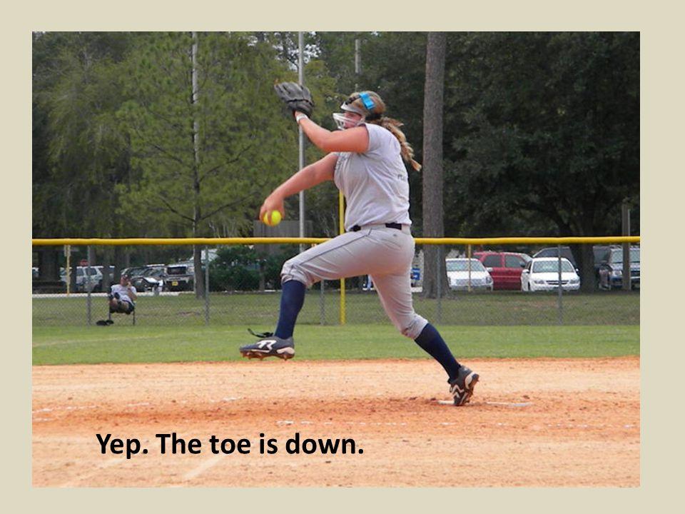 Yep. The toe is down.