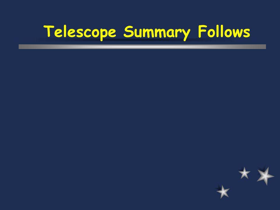 Telescope Summary Follows