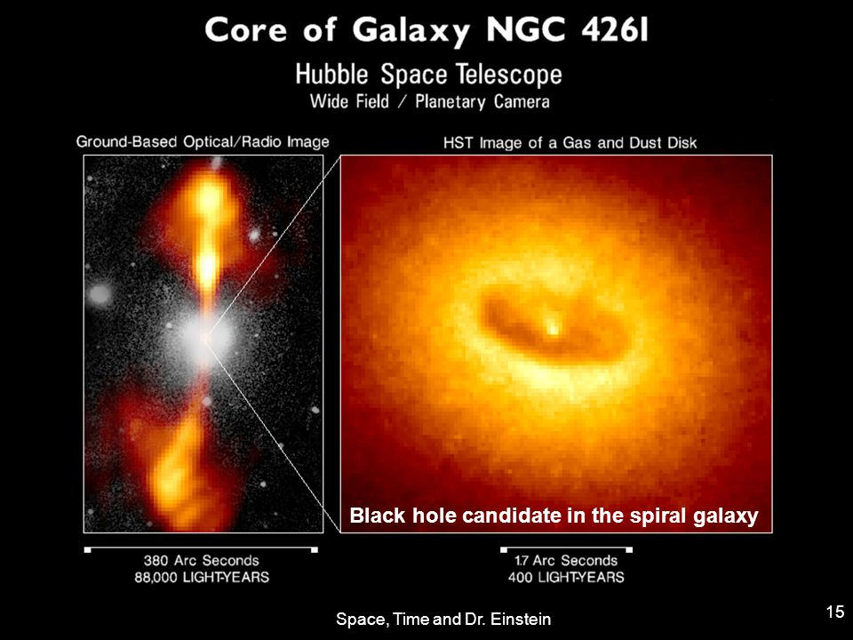 Space, Time and Dr. Einstein 15 Black hole candidate in the spiral galaxy