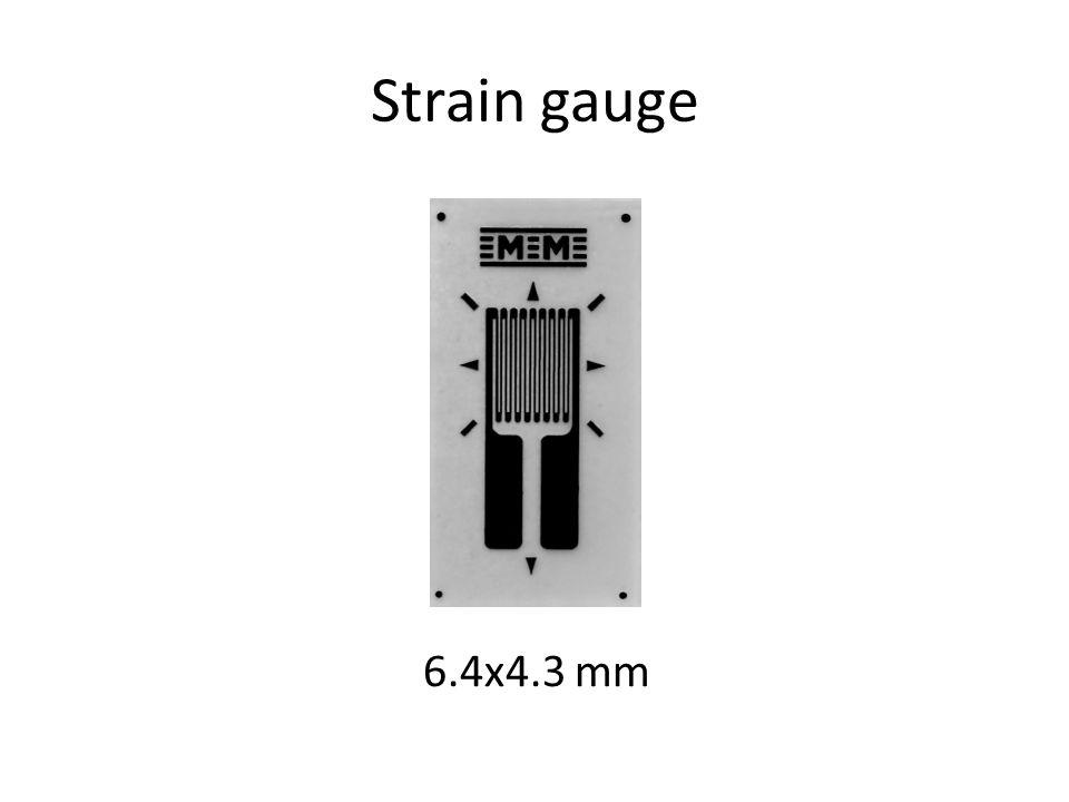 Strain gauge 6.4x4.3 mm