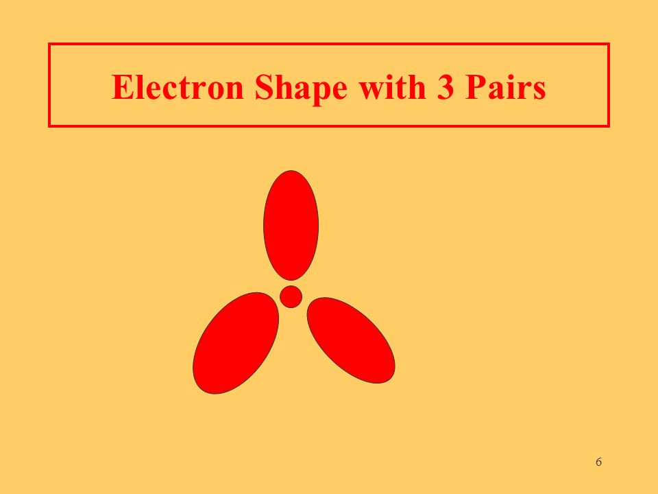6 Electron Shape with 3 Pairs