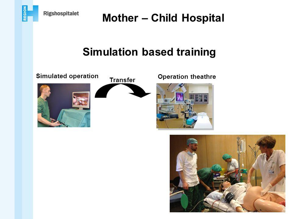 Mother – Child Hospital Simulation based training Simulated operation Operation theathre Transfer