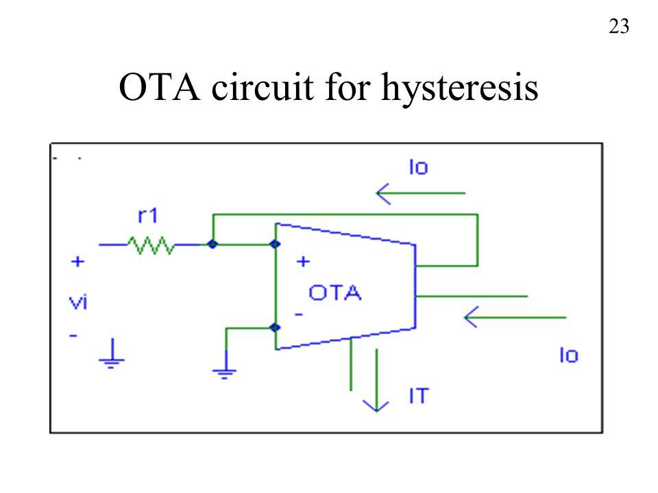 OTA circuit for hysteresis 23