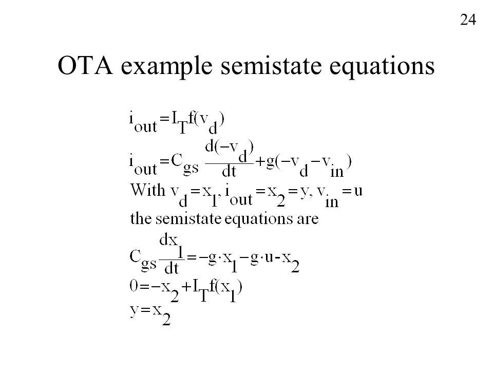 OTA example semistate equations 24