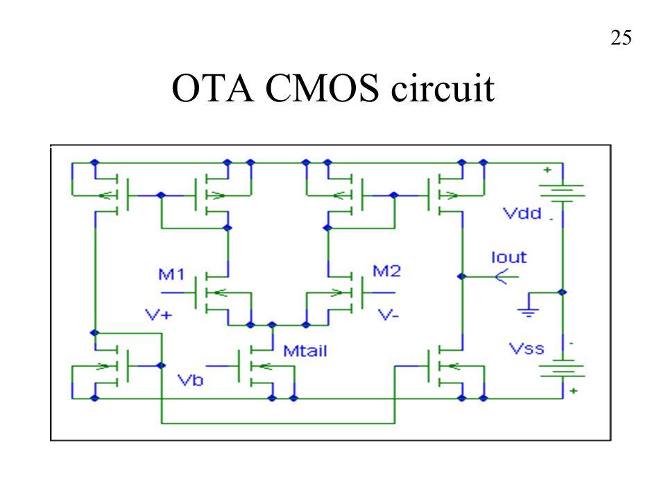 OTA CMOS circuit 25
