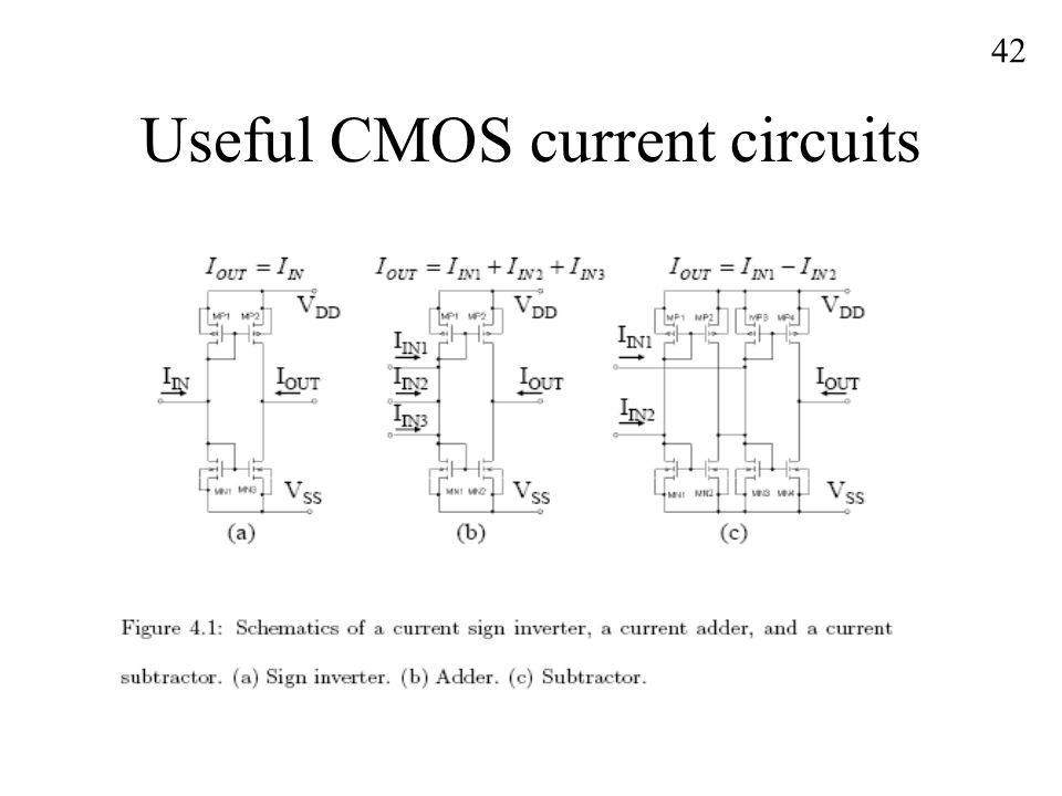 Useful CMOS current circuits 42