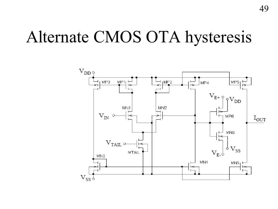 Alternate CMOS OTA hysteresis 49
