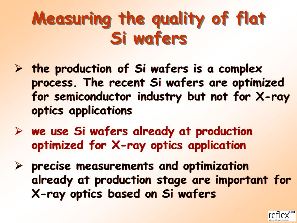 X-RAY OPTICS BASED ON GLASS THERMAL FORMING (GTF) alternative glass technologies represent glass forming avoiding heat