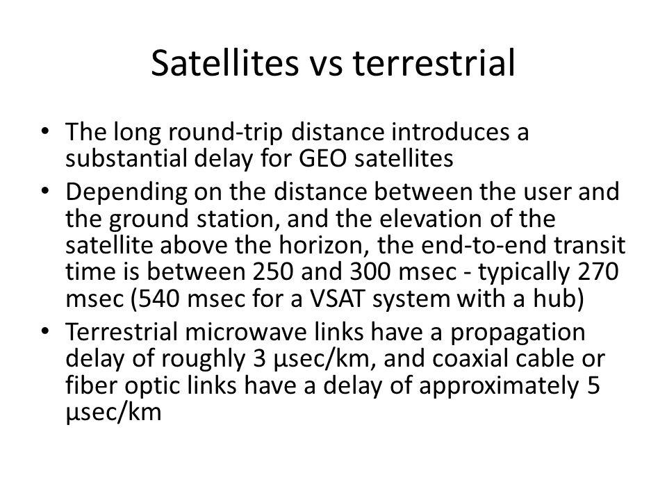 VSATs using a hub