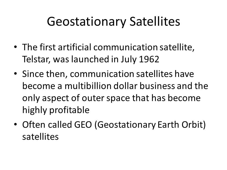 Geostationary Satellites In 1945, the science fiction writer Arthur C. Clarke calculated that a satellite at an altitude of 35,800 km in a circular eq