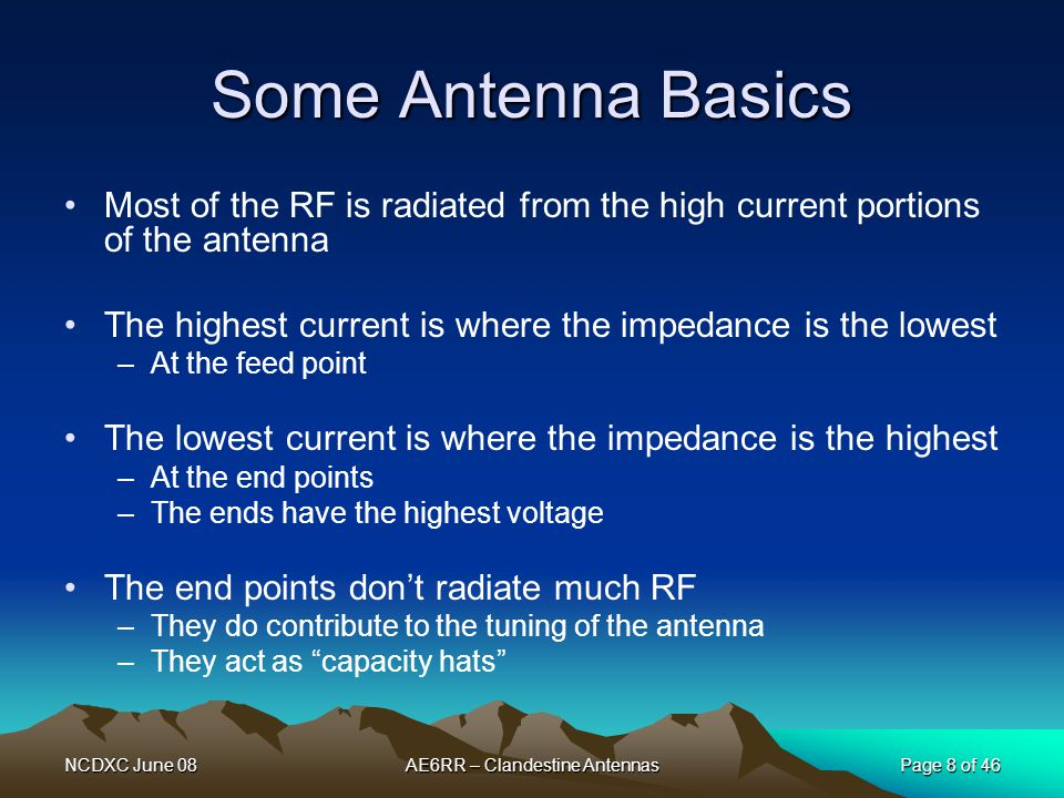 NCDXC June 08 Page 39 of 46 AE6RR – Clandestine Antennas RFI The WAE Award How to Work All Electronics in your house