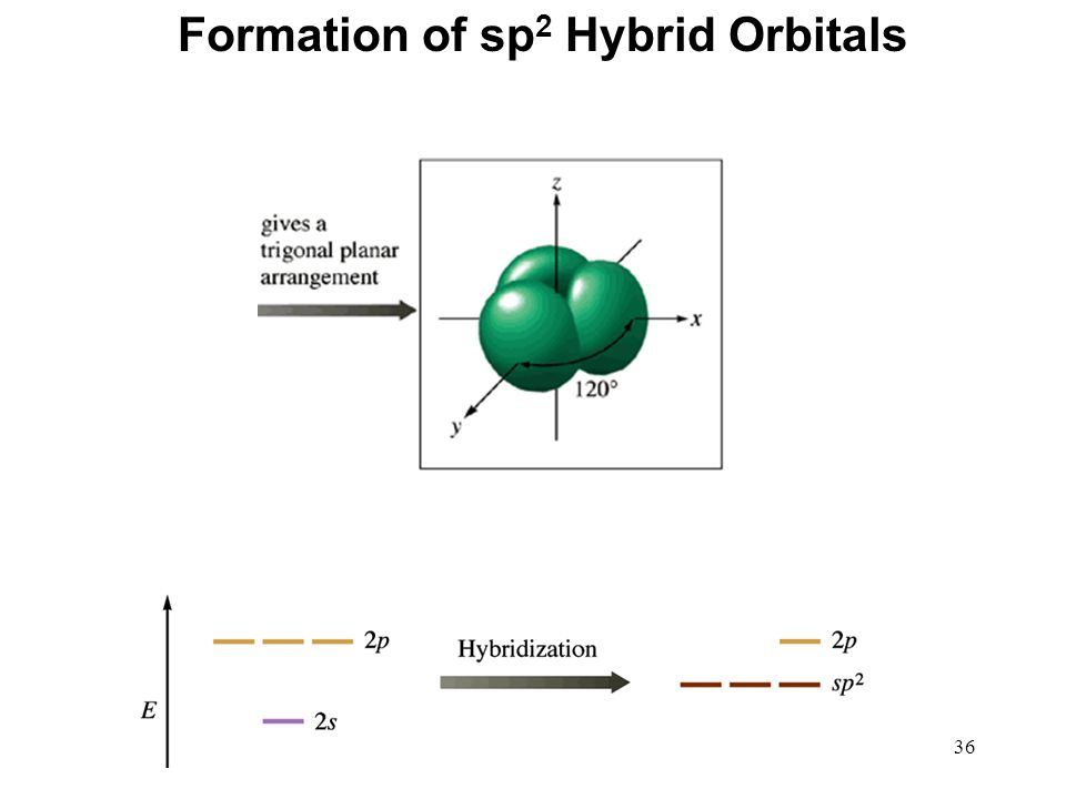 36 Formation of sp 2 Hybrid Orbitals