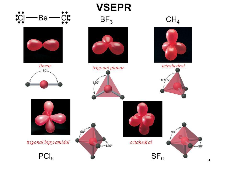 6 bonding-pair vs.bonding pair repulsion lone-pair vs.