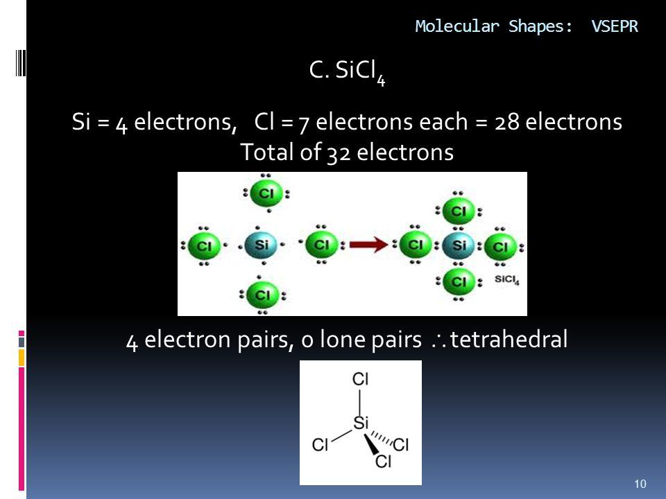 Molecular Shapes: VSEPR 10 C.