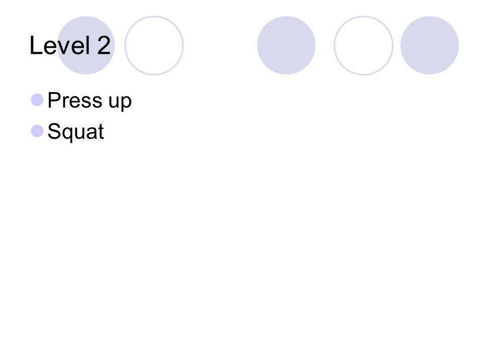 Level 2 Press up Squat