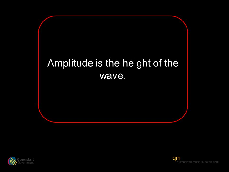 Amplitude is the height of the wave.