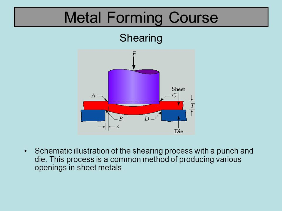 Metal Forming Course Characteristics of Hole and Slug Characteristic features of (a) a punched hole and (b) the punched slug.
