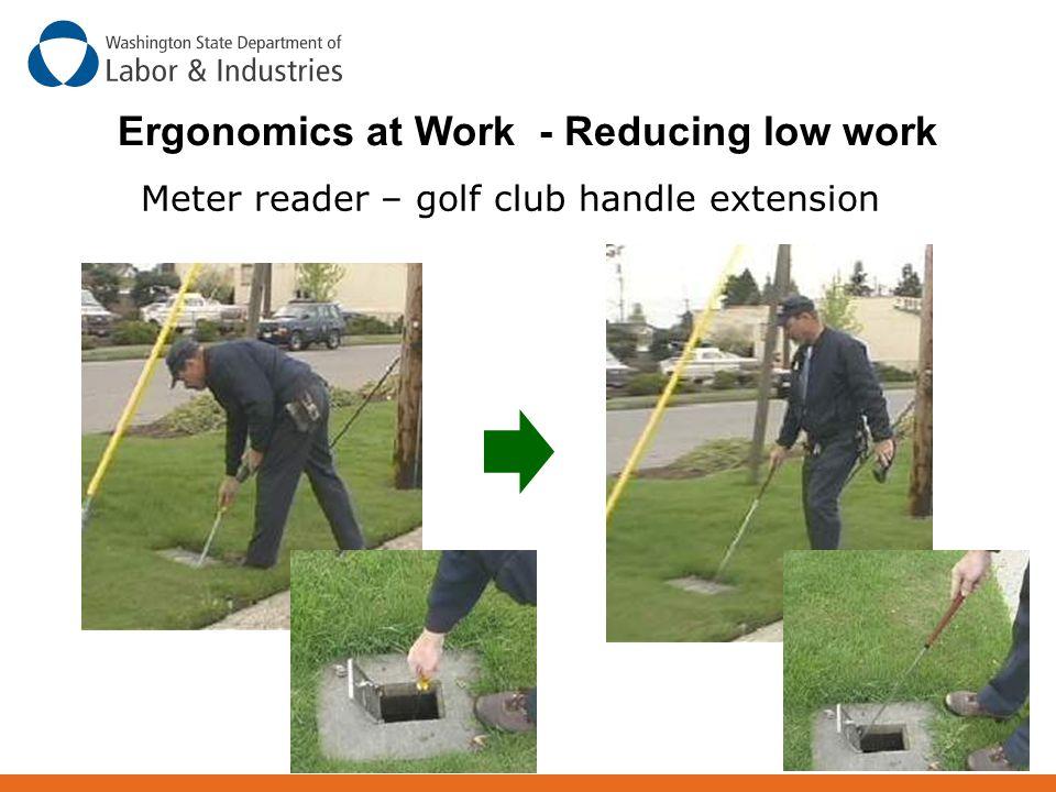 Ergonomics at Work - Reducing low work Meter reader – golf club handle extension