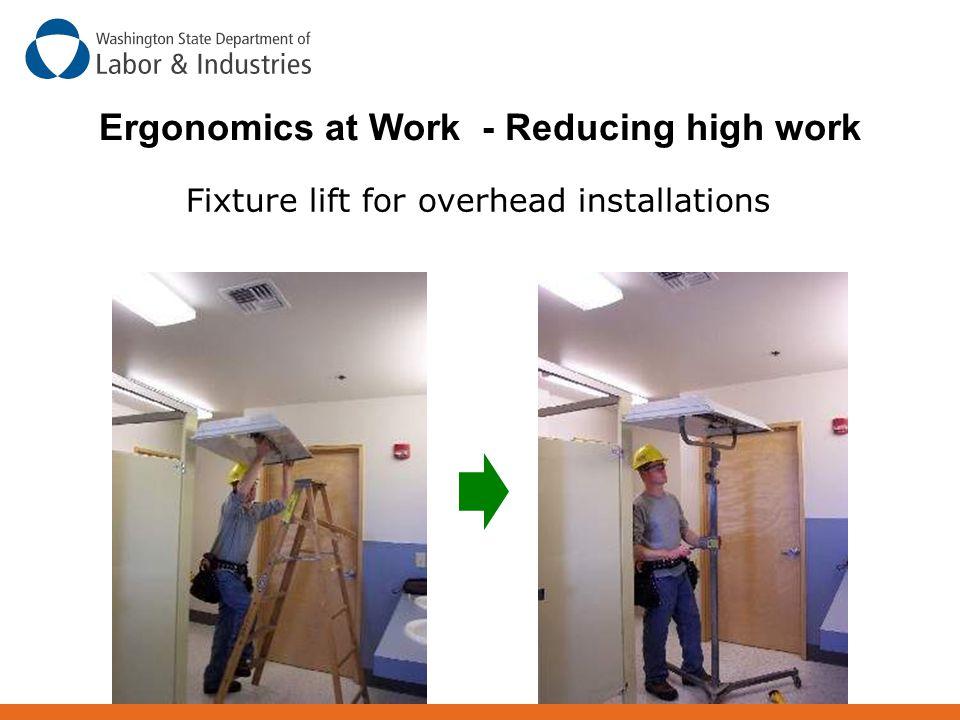 Fixture lift for overhead installations