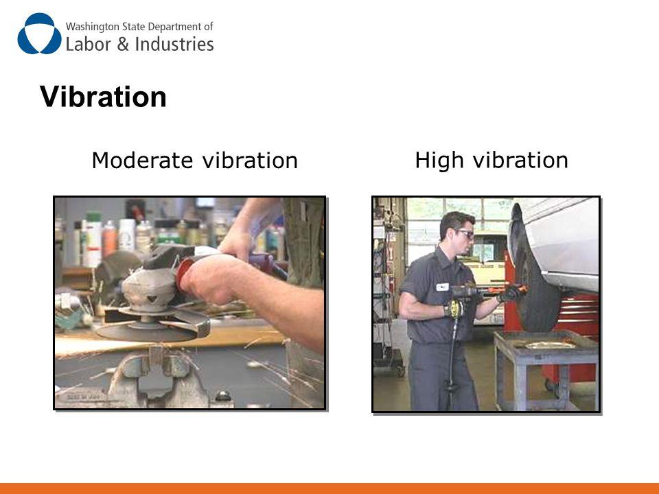 Moderate vibration High vibration