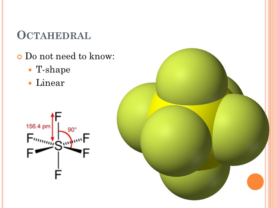 O CTAHEDRAL Do not need to know: T-shape Linear