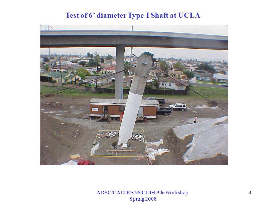ADSC/CALTRANS CIDH Pile Workshop Spring 2008 25