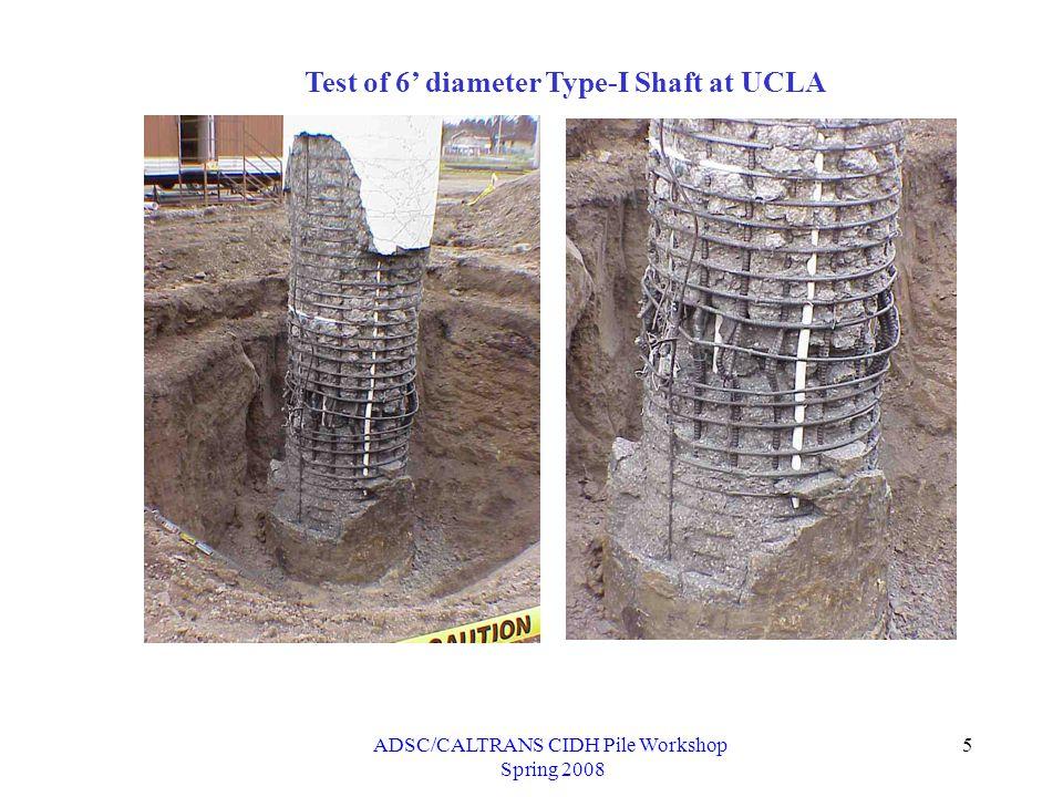 ADSC/CALTRANS CIDH Pile Workshop Spring 2008 16 Demand Calculation (Single Column Bent) Mo Vo Mo