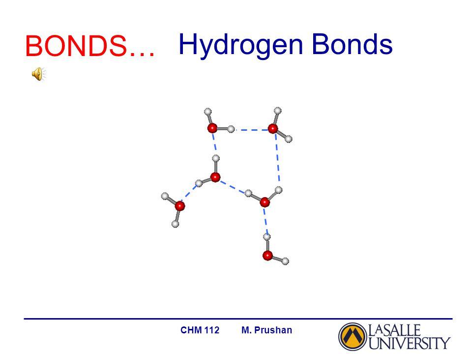 CHM 112 M. Prushan BONDS… Hydrogen Bonds